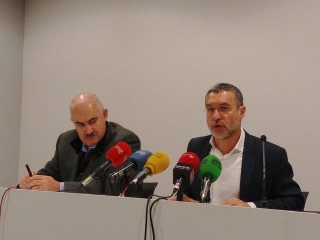 Miguel Laparra y José Mª Aierdi.