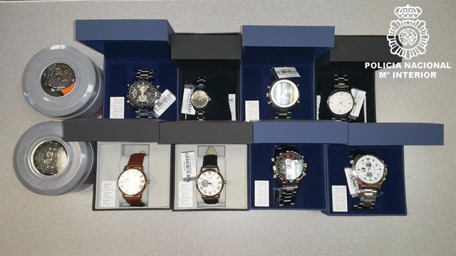 Burgos: relojes falsificados