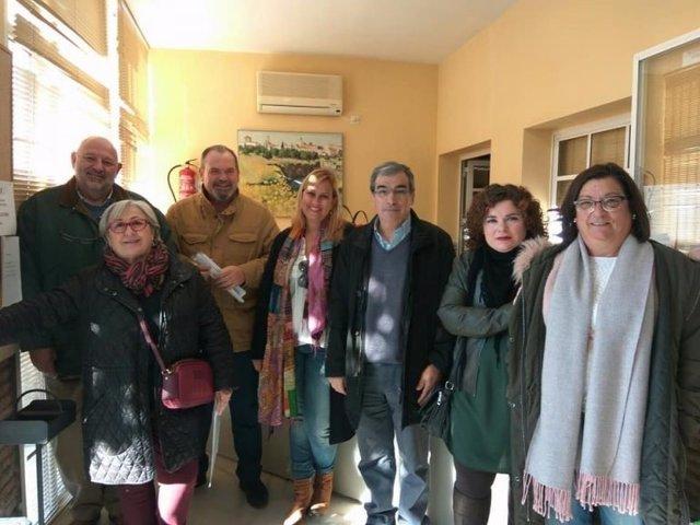 Los concejales de la oposición de Palomares.