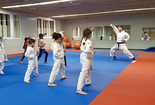 Tatami karate, niños deporte, polideportivo