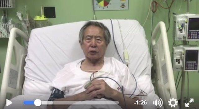 Fujimori, en un vídeo grabado desde la clínica