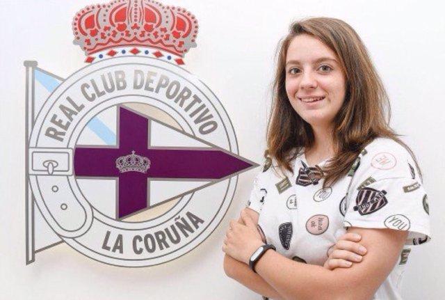 Patricia Díaz Rúa, jugadora del RC Deportivo Abanca