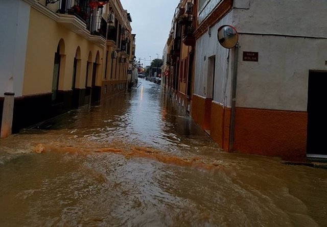 Inundaciones en Sanlúcar