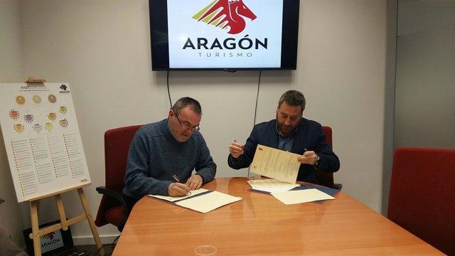 Soro y Gómez han firmado hoy el acuerdo de colaboración
