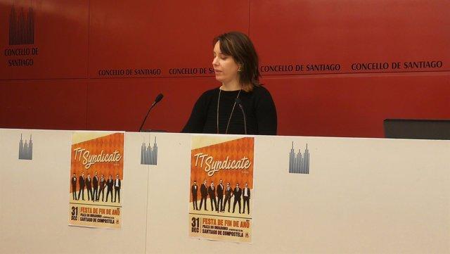 Branca Novoneyra en la rueda de prensa sobre la programación de la Nochevieja