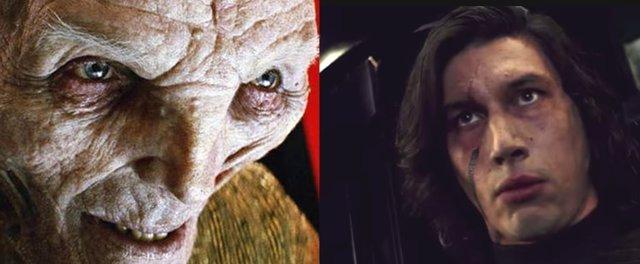 Snoke y Kylo Ren en Star Wars