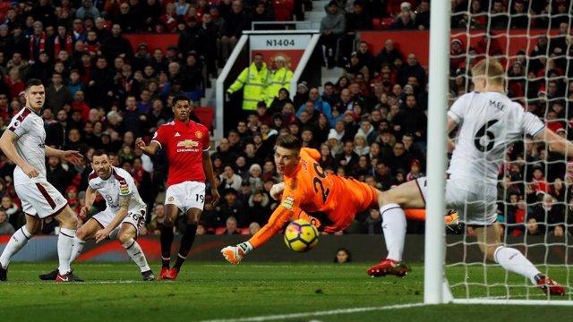 Rashford en el Manchester United - Burnley