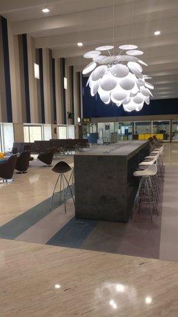 Así ha quedado la nueva sala tres de embarque de San Pablo.