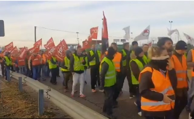 Una imagen de la protesta