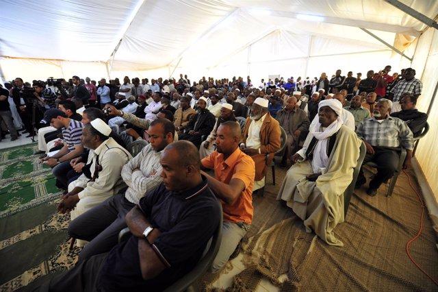 Desplazados de la ciudad de Tawergha en Benghazi