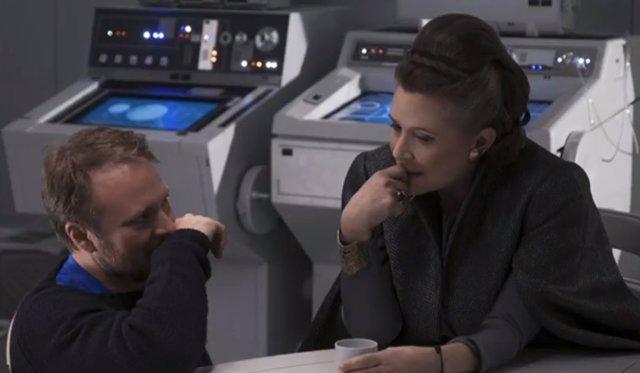 Carrie Fisher en Star Wars: Los últimos Jedi