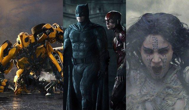 Transformers, Liga de la Justicia y La Momia