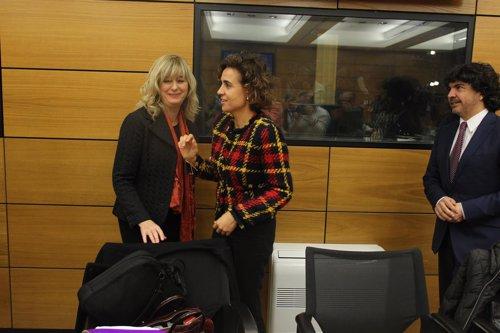 Dolors Montserrat y Ana Ollo en la Conferencia Sectorial de Igualdad