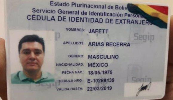 "Carnet de identidad falso utilizado por ""Chepa"""