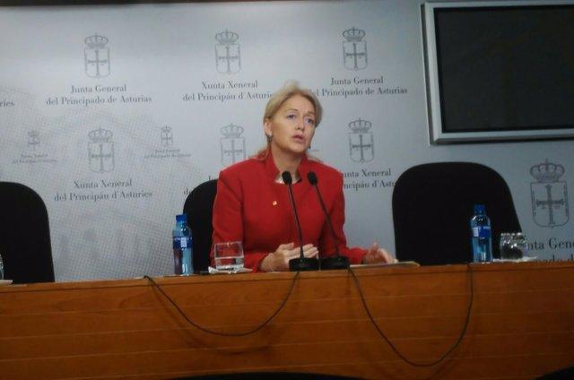 La presidenta de Foro Asturias Cristina Coto