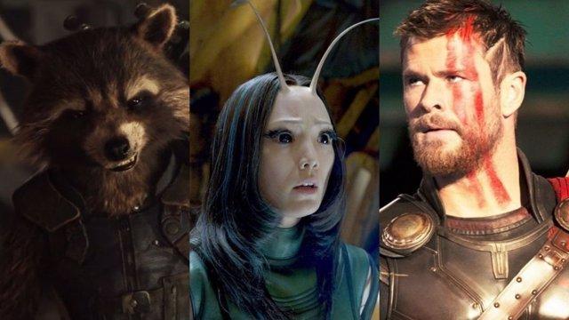 Rocket y Mantis junto a Thor