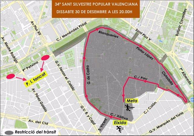Cortes en València por la San Silvestre