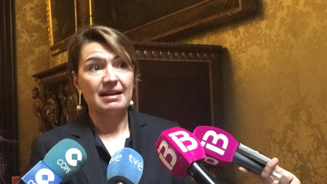 Margalida Durán tras el Pleno de Cort