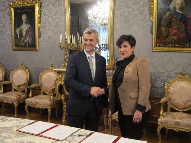 Alfonso Carlosena y María Solana