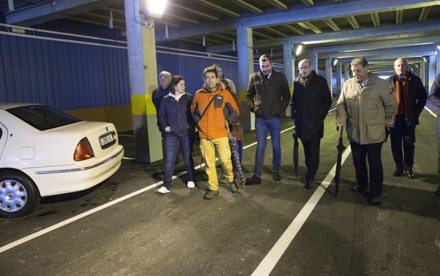 Mazón en el aparcamiento subterráneo del puerto de Santoña