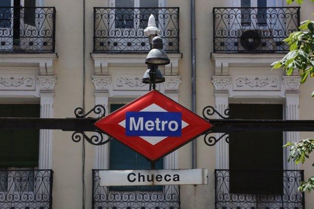 Metro de Chueca en Madrid