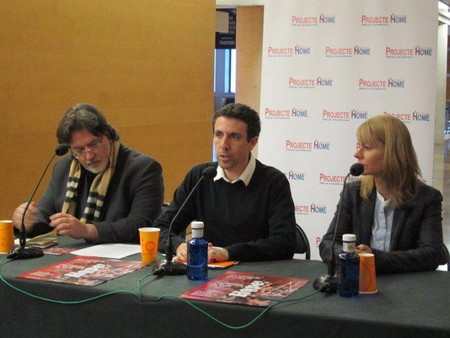 M.Valdivieso, O.Esculies y S.Algarra, en la rueda de prensa de Projecte Home