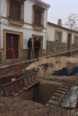 Izquierdo y Romero visitan las obras