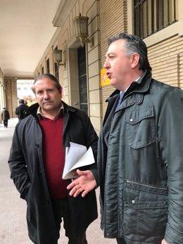 Penella (UAGA) y el abogado Pablo Martínez