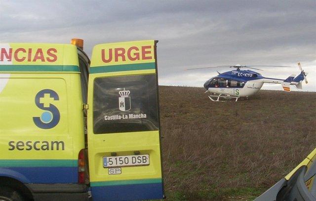 Helicoptero del Sescam