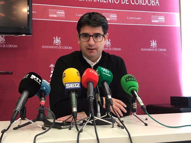 Pedro García en una rueda de prensa