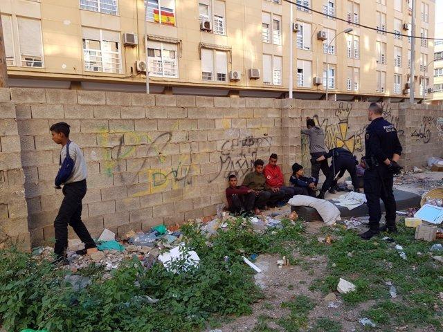 Menores extranjeros no acompañados interceptados en Melilla