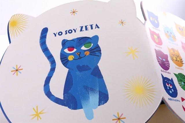 Libro en forma de gato para los recién nacidos