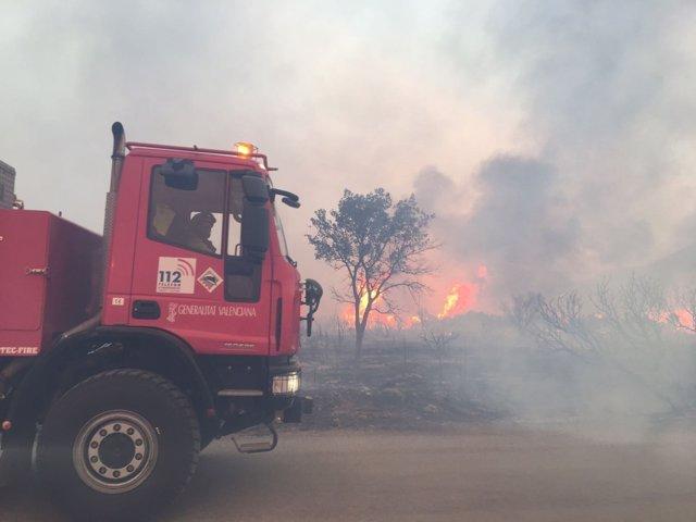 Incendio en Culla