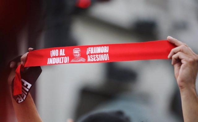 Protestas contra el indulto a Alberto Fujimori en Perú