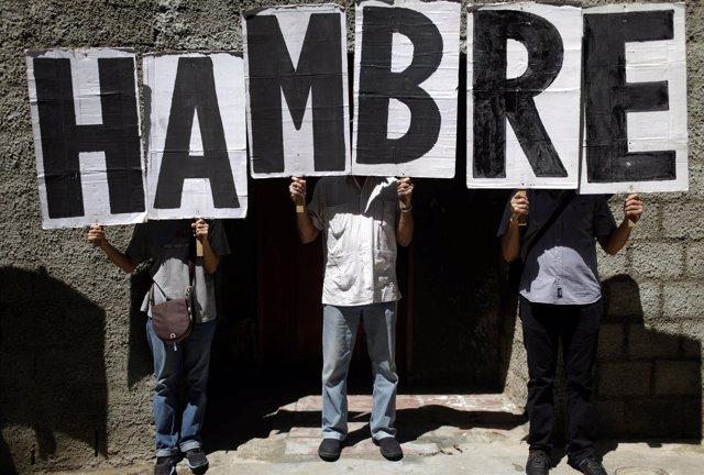 Protestas por la falta de comida en Caracas (archivo)