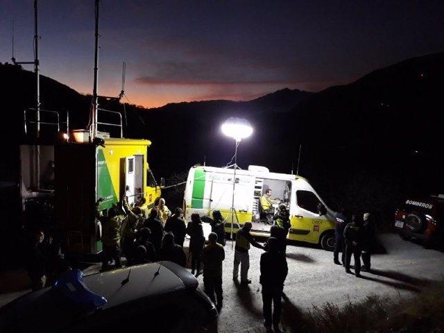 La Junta visita el dispositivo activado en el incendio forestal de diciembre