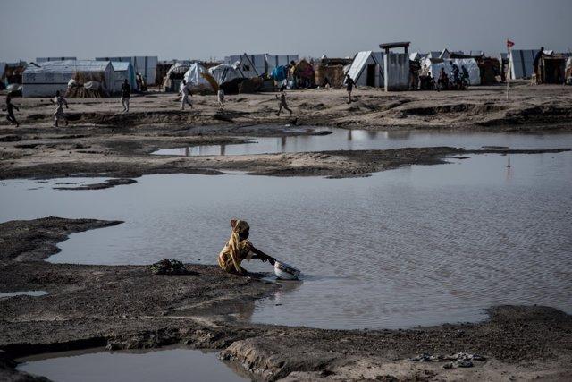 Campo de desplazados internos de Ngala, en Nigeria