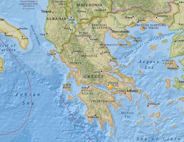 Terremoto de magnitud 5 en el sur de Grecia