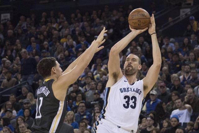 Marc Gasol en el Memphis Grizzlies - Golden State Warriors