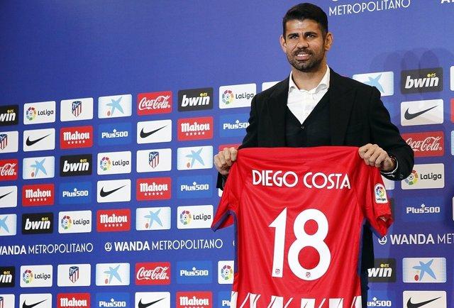 El nuevo delantero del Atlético de Madrid, Diego Costa