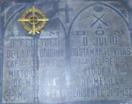 Tumba en el cementerio de Melilla