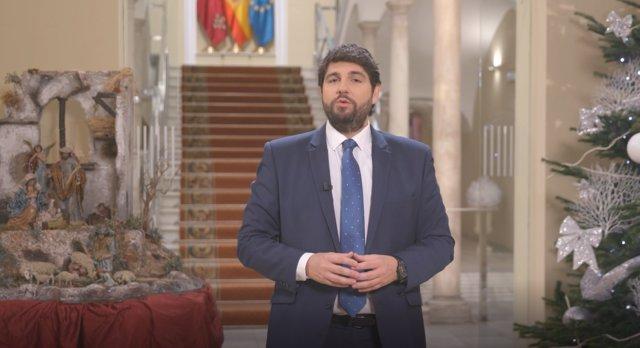 Mensaje de final de año del presidente López Miras