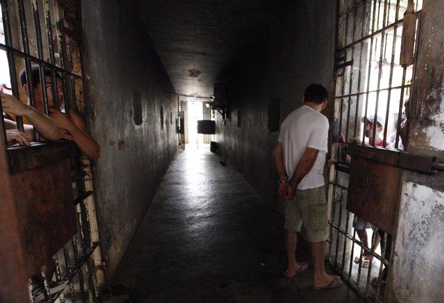 Cárcel, prisión en Caceres, Mato Grosso, Brasil