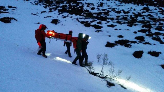 Rescate senderistas en Cantabria