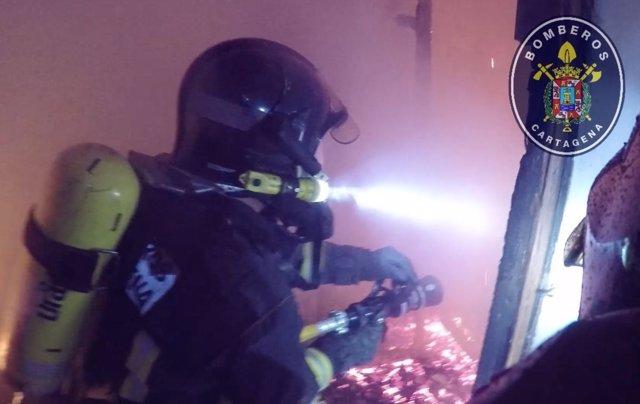 Incendio en un edificio de la plaza de San Francisco