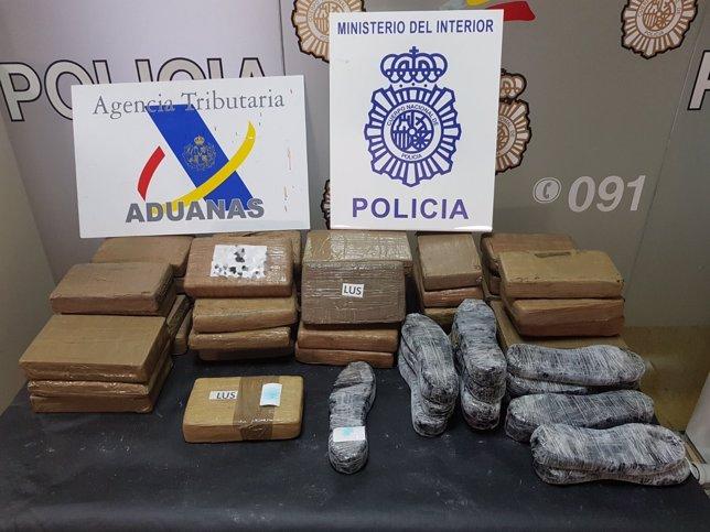 Droga incautada en buque en Algeciras