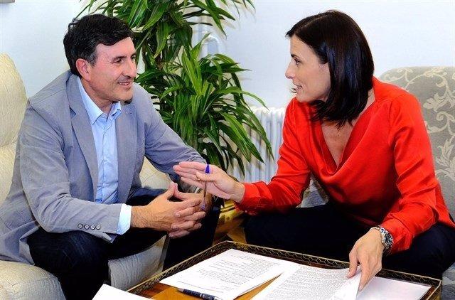 Primera reunión de la alcaldesa con Fernández Mañanes (Archivo)