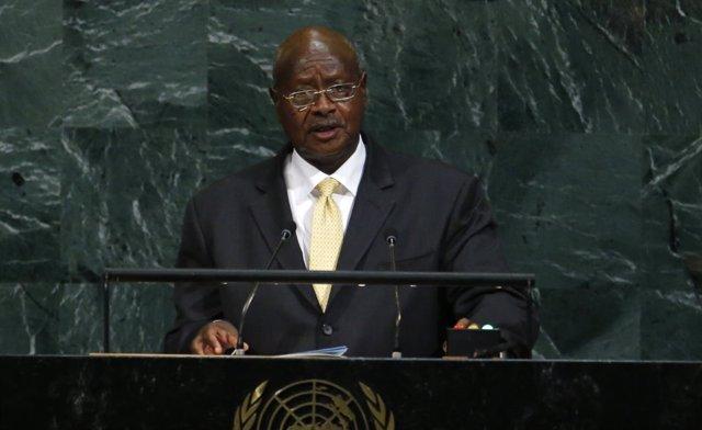 Yoweri Museveni ante la Asamblea General de la ONU