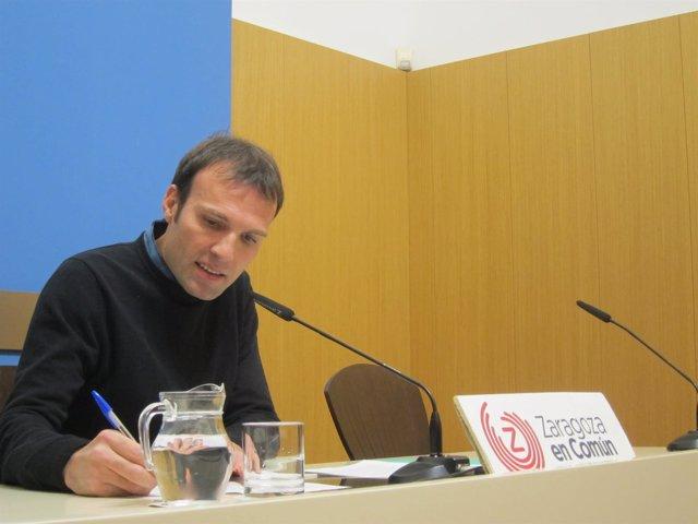 Pablo Muñoz (ZEC), en rueda de prensa en el Ayuntamiento