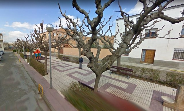 Plaza España de El Palau d'Anglesola, que se rebautizará como plaza 1 d'Octubre
